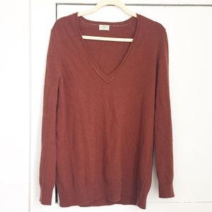 Wallace/Madewell cashmere blend v-neck sweater